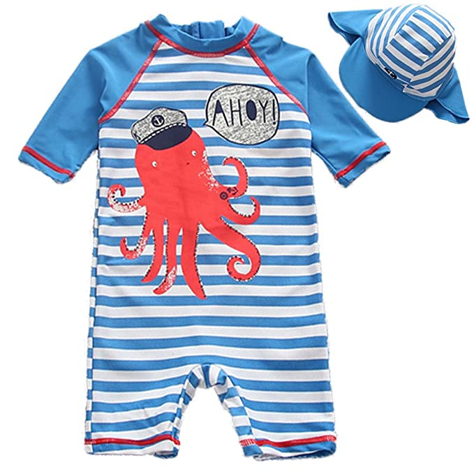 a395298b4e Baby Infant Toddler Girls Boys Swimwear One Pieces UPF 50+ Sun Protection  Zip Swimsuit Sun