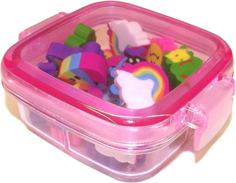 Kawaii Box Set con simpáticos, colores Mini de gomas de borrar ...
