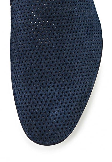 Roberto Botticelli - Mocasines de ante para hombre Azul azul oscuro: Amazon.es: Zapatos y complementos