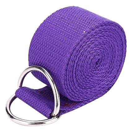 Amazon.com : Alomejor Yoga Fitness Belt 1.8M D-Ring Buckle ...