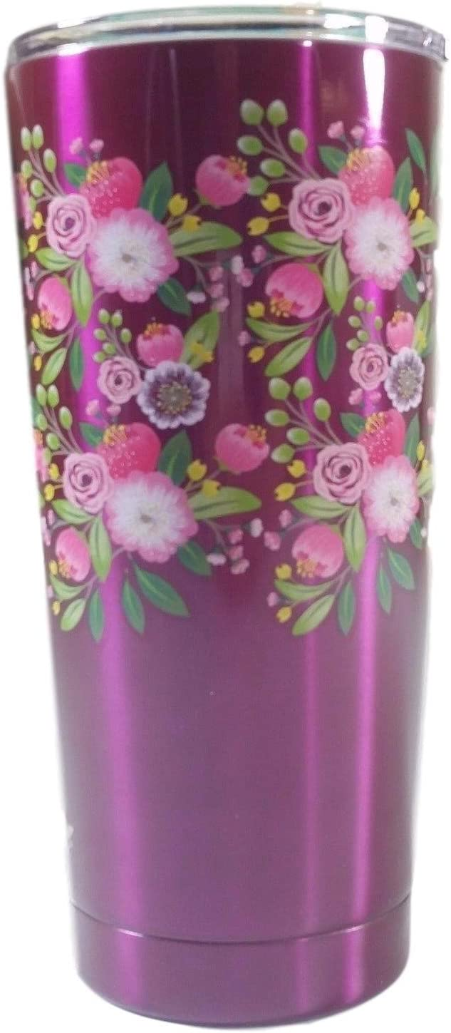 ArtMuseKitss The Pioneer Woman Stainless Steel Tumbler 20 oz Many Colors Hot Cold Insulated 18 Hours (Purple, 20 Ounce)