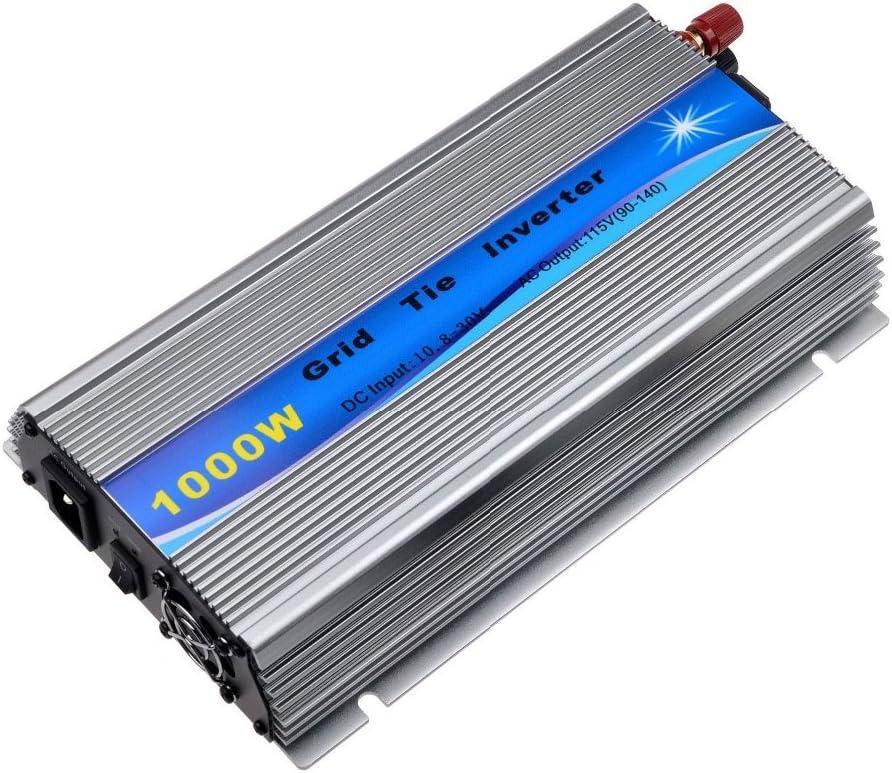 Y&H - Inverter de Corbata de 1000 W, apilable, MPPT, Onda sinusoidal Pura DC20-45 V, Entrada Solar AC190-260 V, Salida para Panel fotovoltaico 24 V, 30 V, 36 V