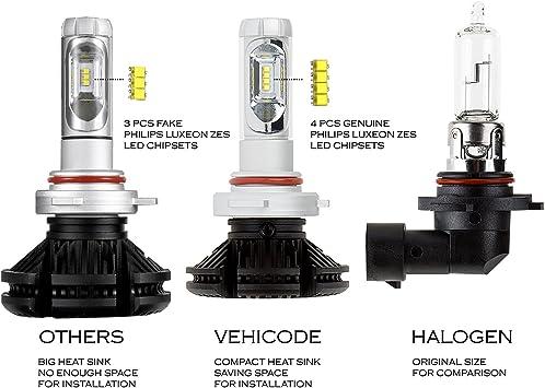 Huizen LED bombillas para faros delanteros/luces antiniebla Kit de conversión (DRL) – Philips zes luz de cruce sin ventilador de repuesto – W/DIY color amarillo/blanco/azul (3000 K/6000 K/8000 K) – 2 años
