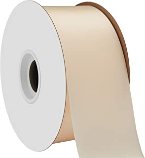 "product image for Offray Berwick 2.25"" Single Face Satin Ribbon, Ivory White, 50 Yds"
