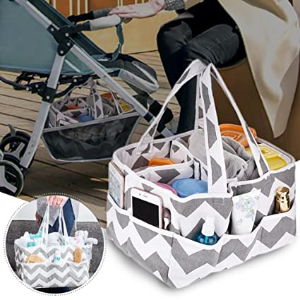 Organizador de pañales para bebé, organizador de pañales portátil ...