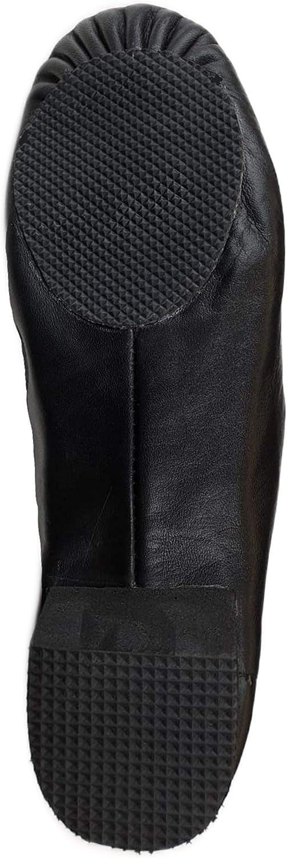 Slip ON Black Split Sole Eye Style TOROMAX Jazz Dance Shoes