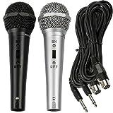 2pc Dynamic DJ Karaoke Microphone Set Audio Cable Jack