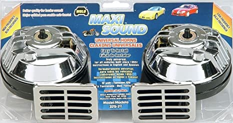 Amazon Com Wolo 325 2t Maxi Sound Universal Horn Chrome Automotive