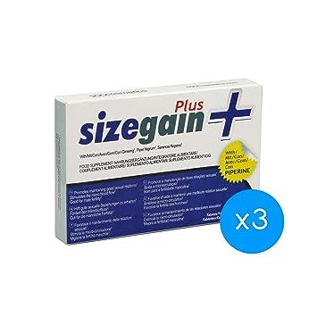 Alargamiento de pene - 3 SizeGain Plus: Pastillas para alargar el pene: Amazon.es: Salud y cuidado personal
