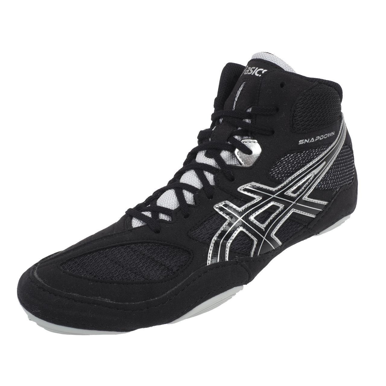 Asics timbre de lucha libre zapatos ASICS Snapdown–J502Y 9093–Negro/Plata