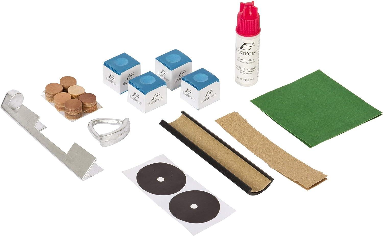 EastPoint Sports Deluxe - Kit de reparación para mesa y taco de billar (encarnado): Amazon.es: Deportes y aire libre