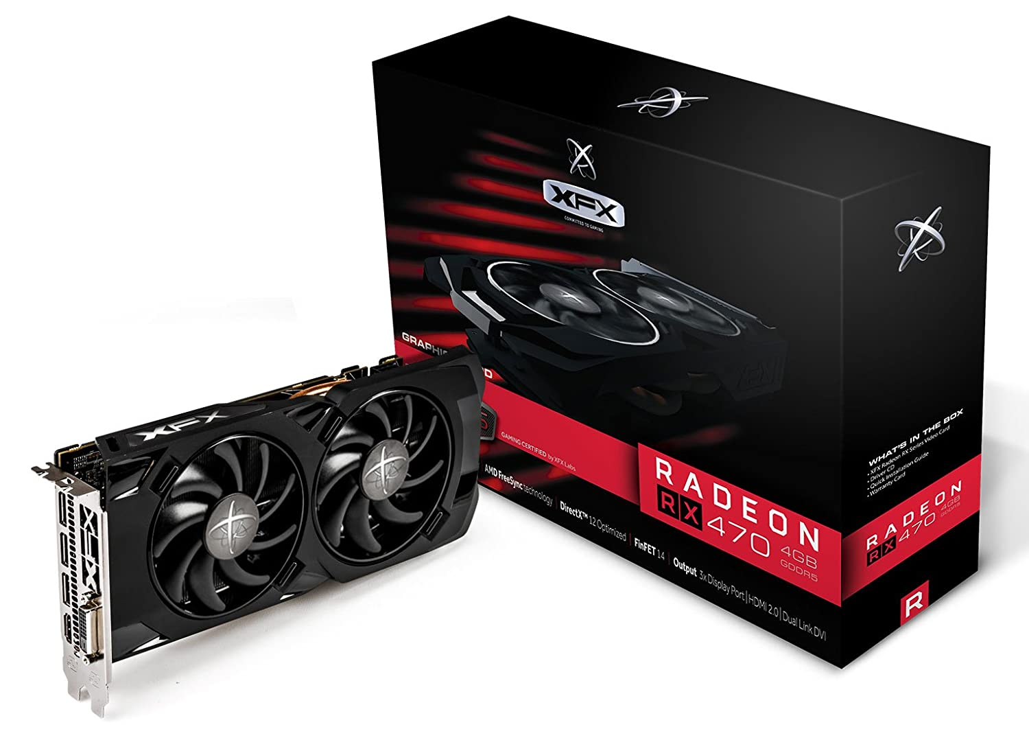 XFX Radeon RX 470 RS 4GB GDDR5 True OC 1256MHZ Black Edition RX-470P437BM