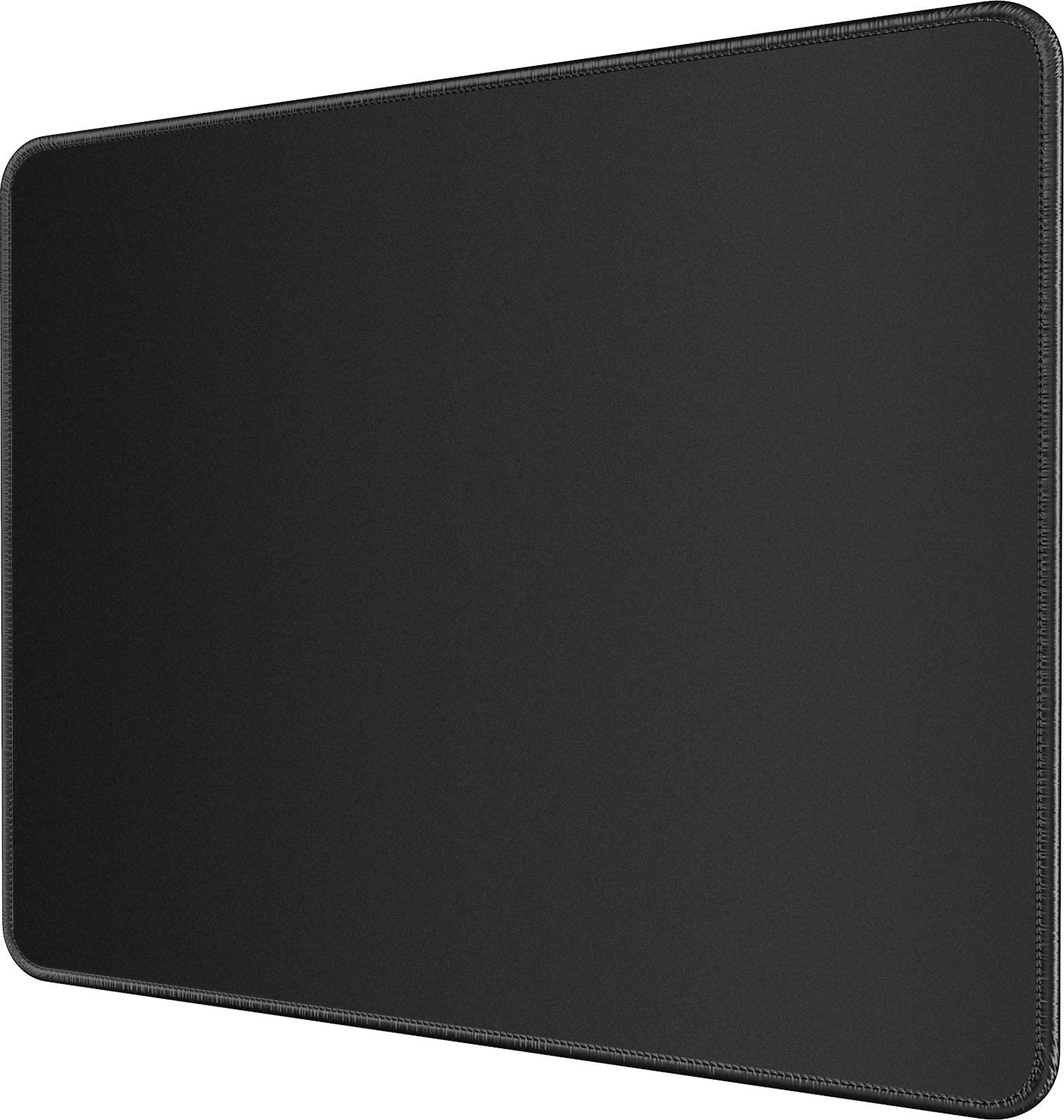 MROCO Large Gaming Mouse Pad Pack with Stitched Edges, Non-Slip Rubber Base, Premium-Textured, Waterproof Mousepad Bulk Mouse Mat Mouse Pads for Gamer, Computer & PC, 12.6 x 10.8 x 0.12 inches, Black