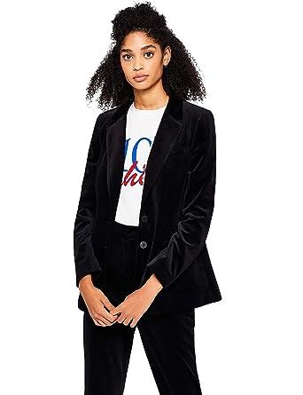 Marca Amazon - find. Velvet Blazer - Chaqueta de traje Mujer ...