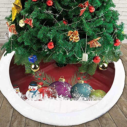 Falda Arbol Navidad,Winter Santa Xmas Party Decor Decorations Mat ...
