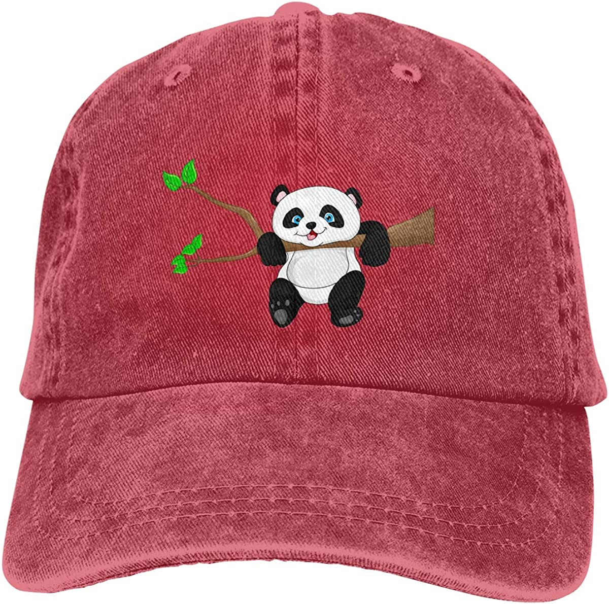 SY COMPACT Unisex Man /& Womens Panda Washed Dyed Vintage Caps Adjustable