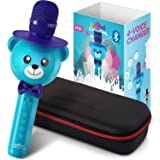 Wireless Karaoke Microphone for Kids – Bluetooth Mic Great for Solo Singing, KTV Parties, Magic Boys & Girls Christmas or Birthday Gifts – Portable Karaoke Machine for Kids Pop [Blue] by KaraoKing