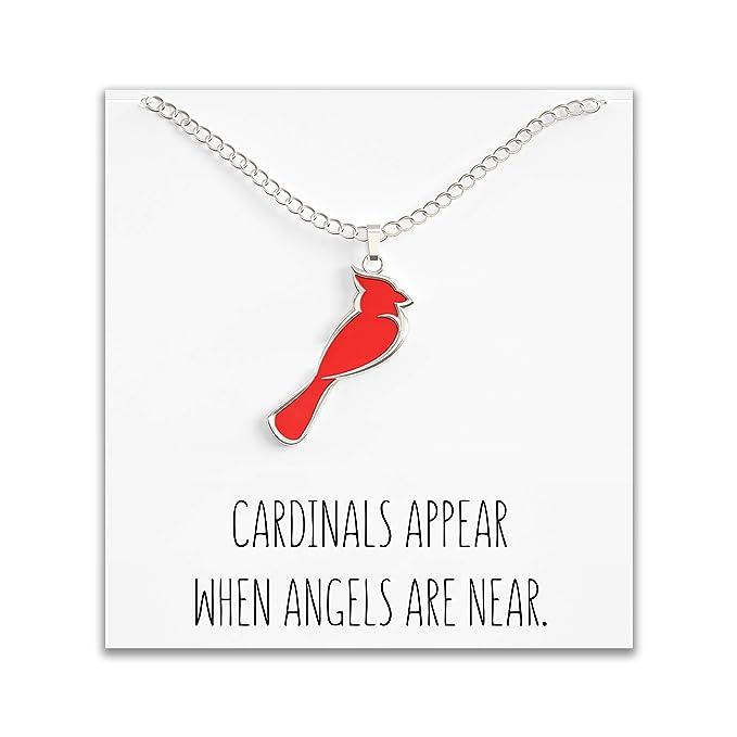 Amazon.com: Collar cardenal para mujer – Bonito colgante ...