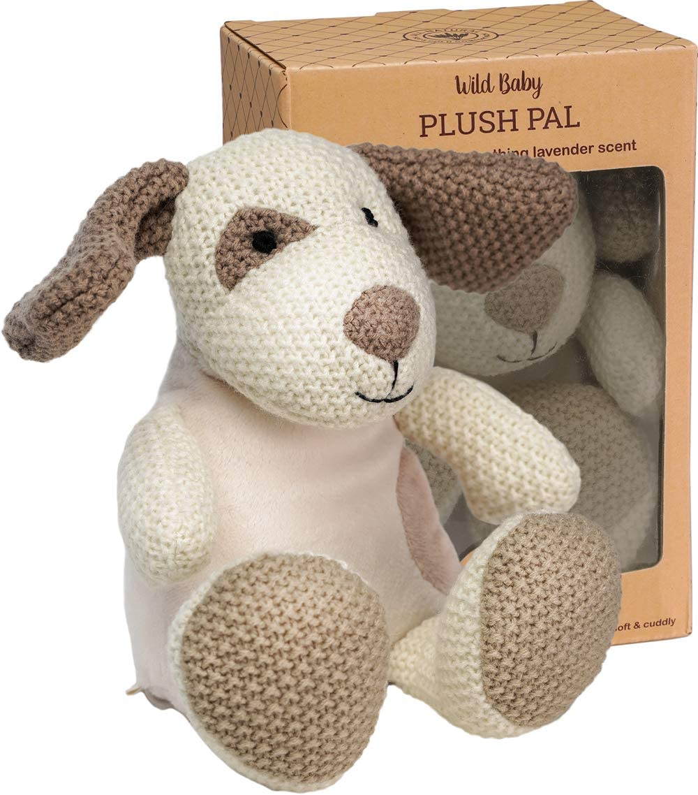 """WILD BABY Microwavable Plush Pal - Cozy Heatable Weighted Stuffed Animal with Aromatherapy Lavender Scent, 12"""" Puppy Dog"""