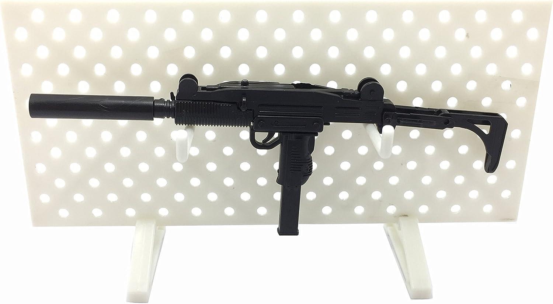 Arma de fuego 1:6 en Miniatura Coleccionistas silenciado Submachine Gun Máquina Pistola Uzi CQBR