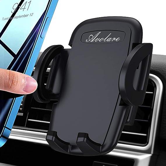 Avolare Handyhalterung Auto Handyhalter Fürs Auto Lüftung Handy Kfz Halterungen Universal Kompatibel Für Iphone 11 Pro Xs Max Xr X 8 7 6 Samsung S10 S9 S8 Huawei Xiaomi Schwarz Elektronik