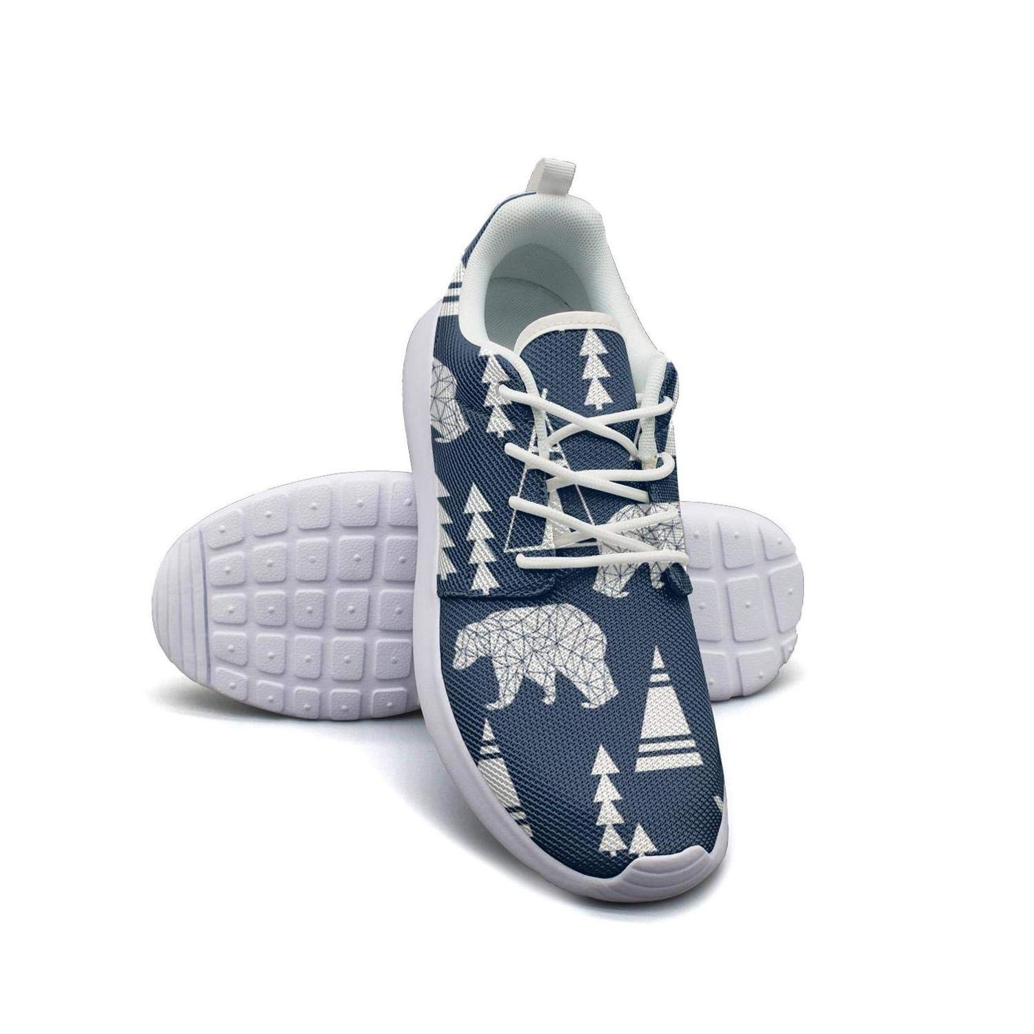 YSLC Teepee Bear Forest Lightweight Running Shoes for Women Sneaker Rubber Sole Breathable Shoes