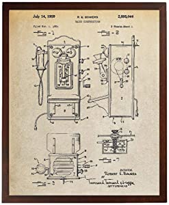 Turnip Designs Wall Phone Patent Poster Antique Telephone Vintage Phone Antique Wall Decor Phone Decoration Farmhouse Decor Vintage TDP302