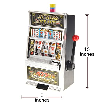 amazon com chimaera 15 inch mini lucky 7 slot machine money bank