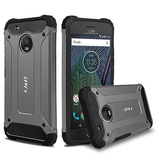 5 opinioni per Custodia Moto G5 Plus, J&D [Protezione Robusta] [Armatura Sottile] Ibrida
