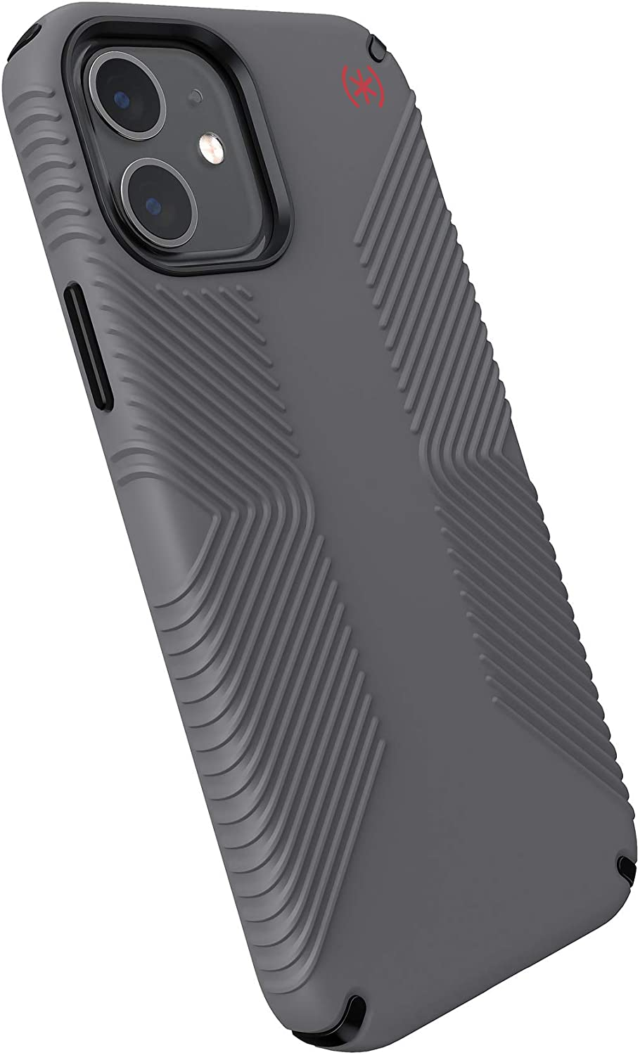 Speck Products Presidio2 Grip iPhone 12, iPhone 12 Pro Case, Graphite Grey/Graphite Grey/Bold Red