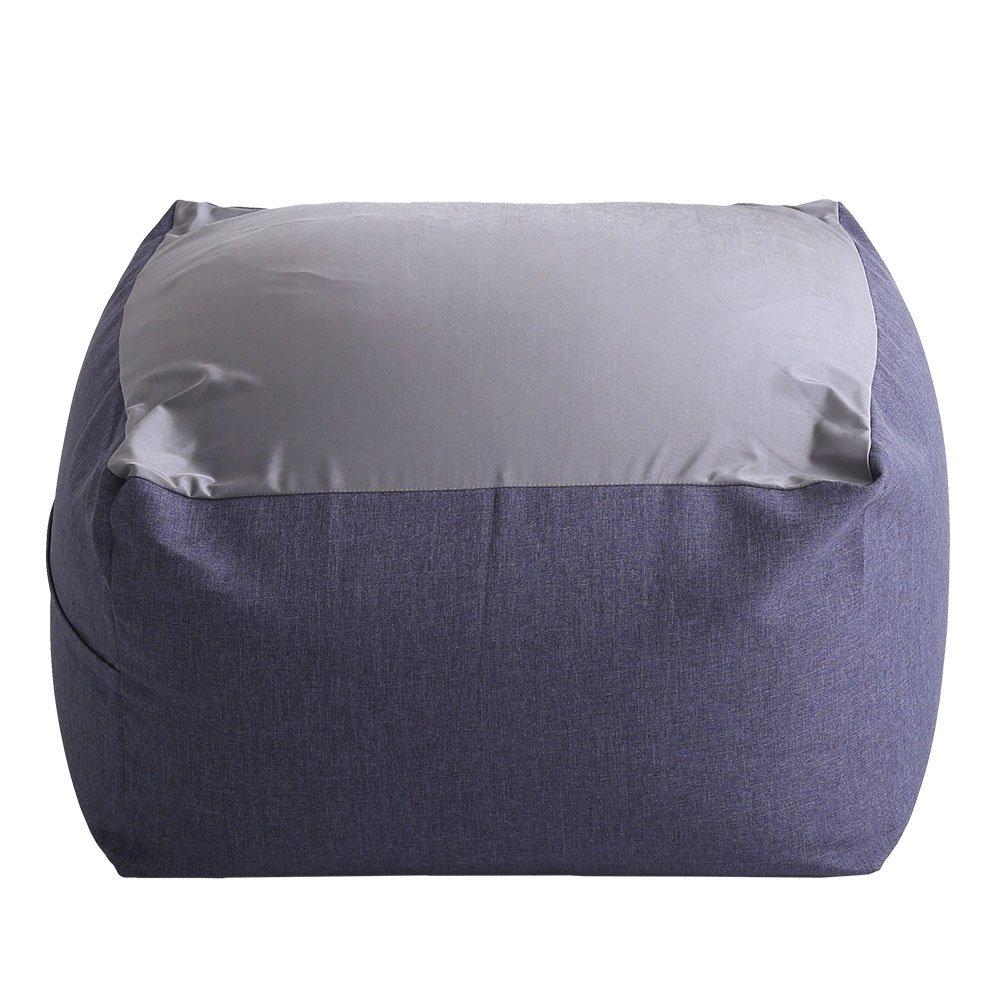 特大のキューブ型ビーズクッション日本製(XLサイズ)カバーがお家で洗えます | Guimauve-ギモーブ- ブルー B073PTJ4R4 ブルー ブルー