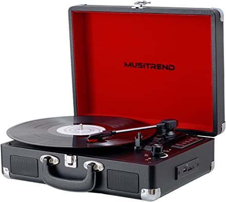Amazon.com: Musitrend Bluetooth reproductor de discos de ...