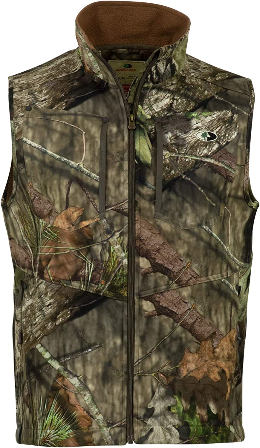Mossy Oak Sherpa 2.0 Fleece Lined Camo Hunting Vest for Men, Camouflage Clothing