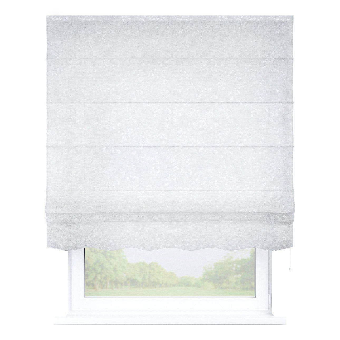 Dekoria Raffrollo Firenze ohne Bohren Blickdicht Faltvorhang Raffgardine Wohnzimmer Schlafzimmer Kinderzimmer 100 × 170 cm weiß Raffrollos auf Maß maßanfertigung möglich