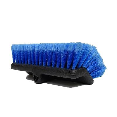 "CARCAREZ Heavy Duty Auto Wash 10"" Flow-Thru Tri Level Brush Head,Blue, Pack of 1: Automotive"