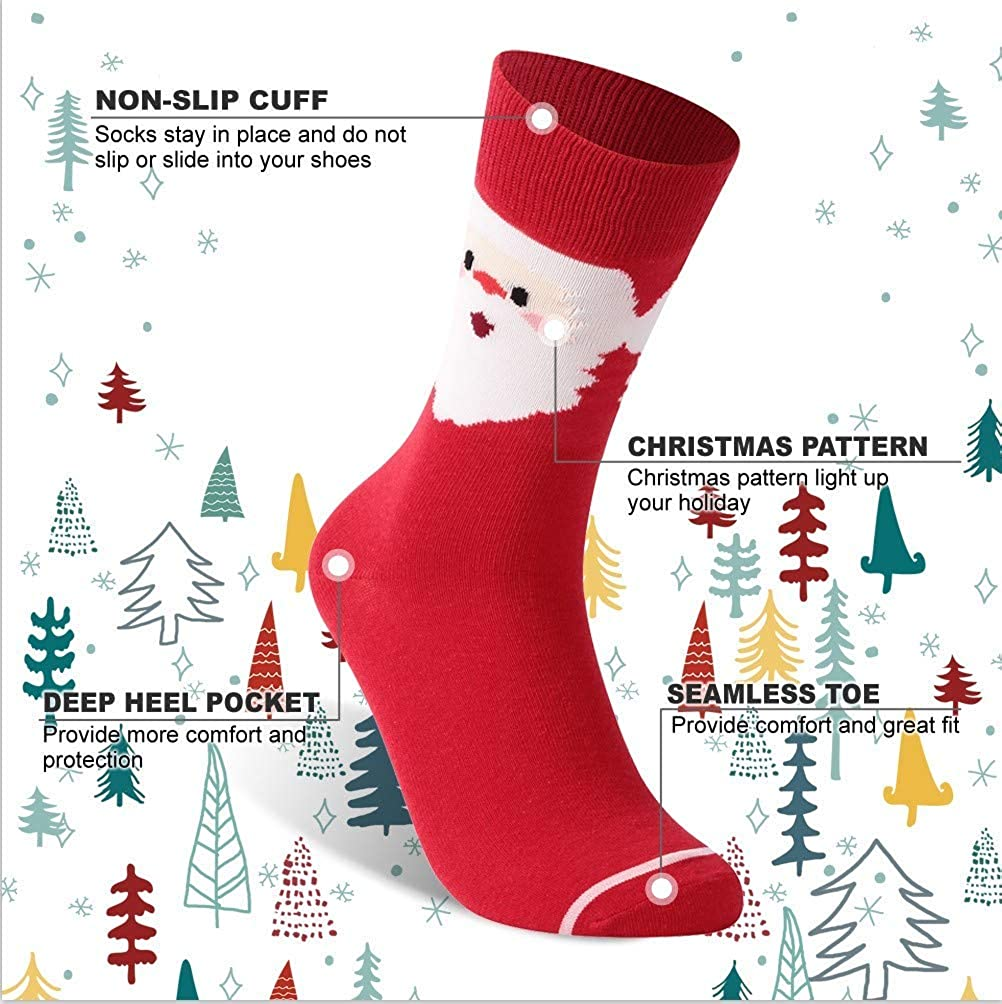 MENS CHRISTMAS SOCKS Novelty Festive Xmas Office Party Boys Santa Reindeer Gift