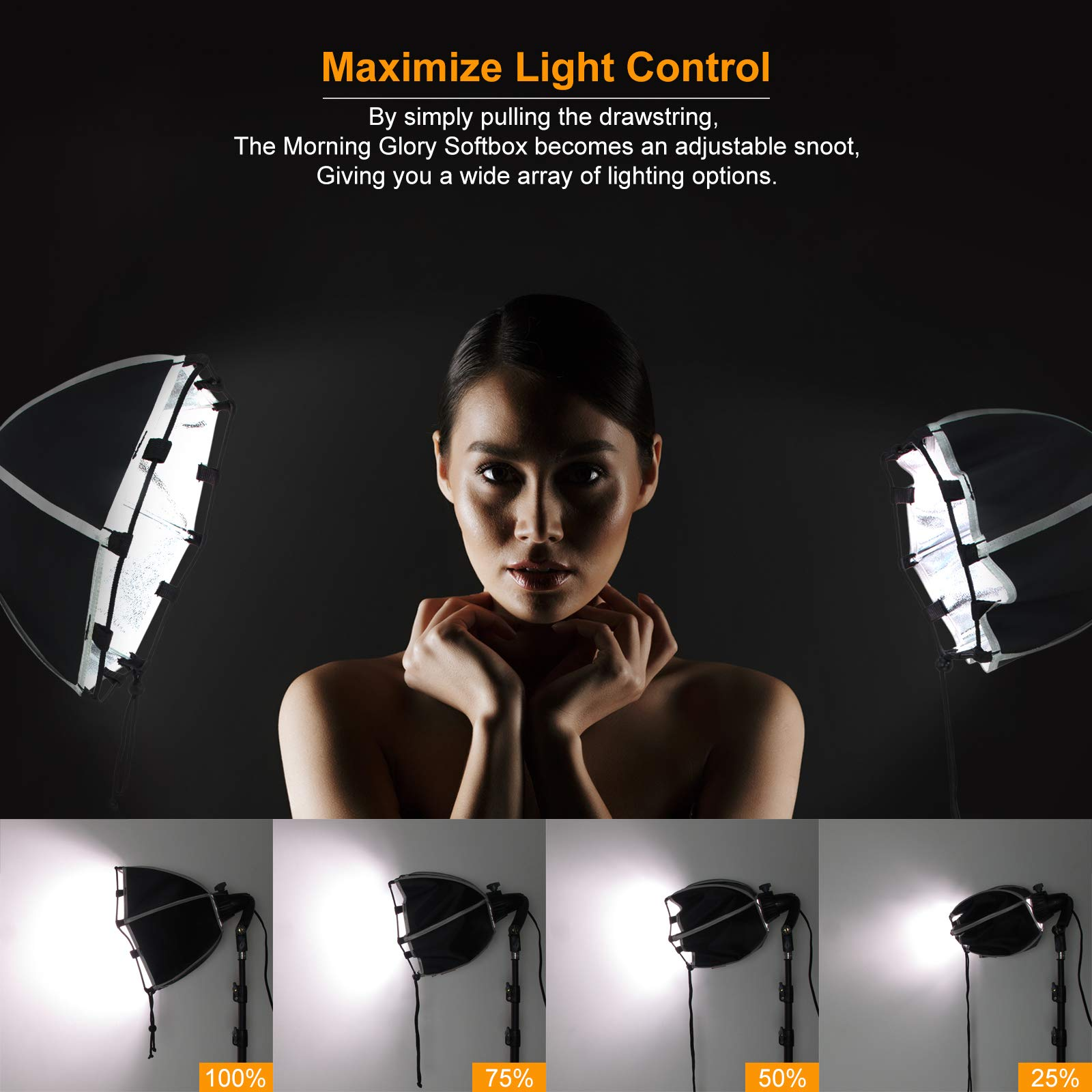 LINCO Lincostore Photography Studio Lighting Kit Arm for Video Continuous Lighting Shadow Boom Box Lights Set Headlight Softbox Setup with Daylight Bulbs 2400 Lumens AM261 by Linco (Image #3)
