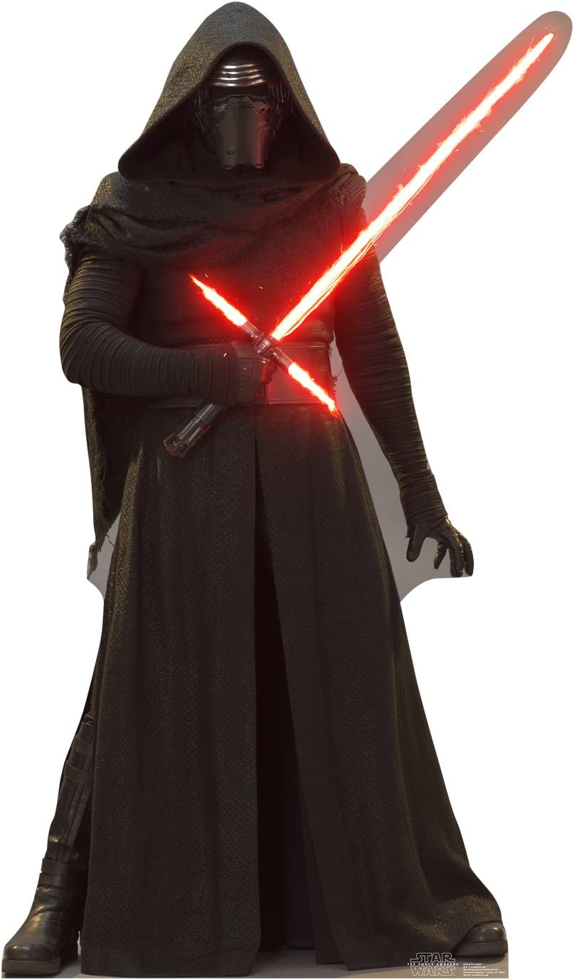 Cardboard People Kylo Ren Life Size Cardboard Cutout Standup Star Wars Episode Vii The Force Awakens Home Kitchen Amazon Com