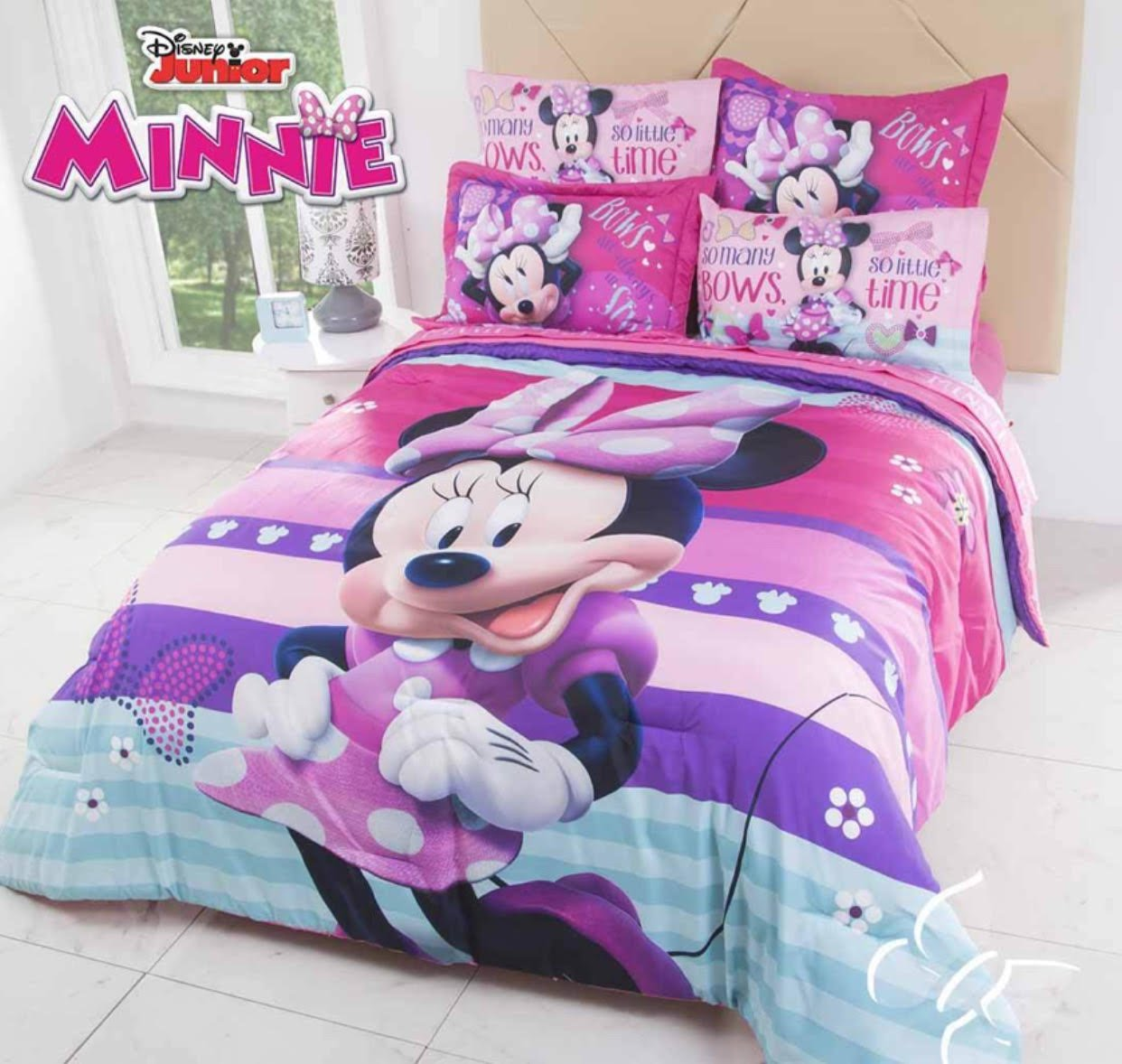 LIMITED EDITION MINNIE MOUSE DISNEY ORIGINAL KIDS GIRLS COMFORTER SET 3 PCS QUEEN SIZE
