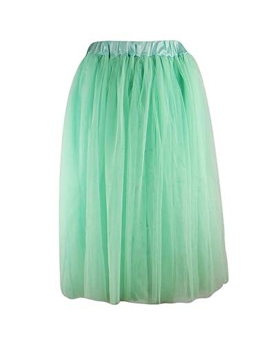 Ro Rox – Falda – para mujer Verde Menta Verde talla única
