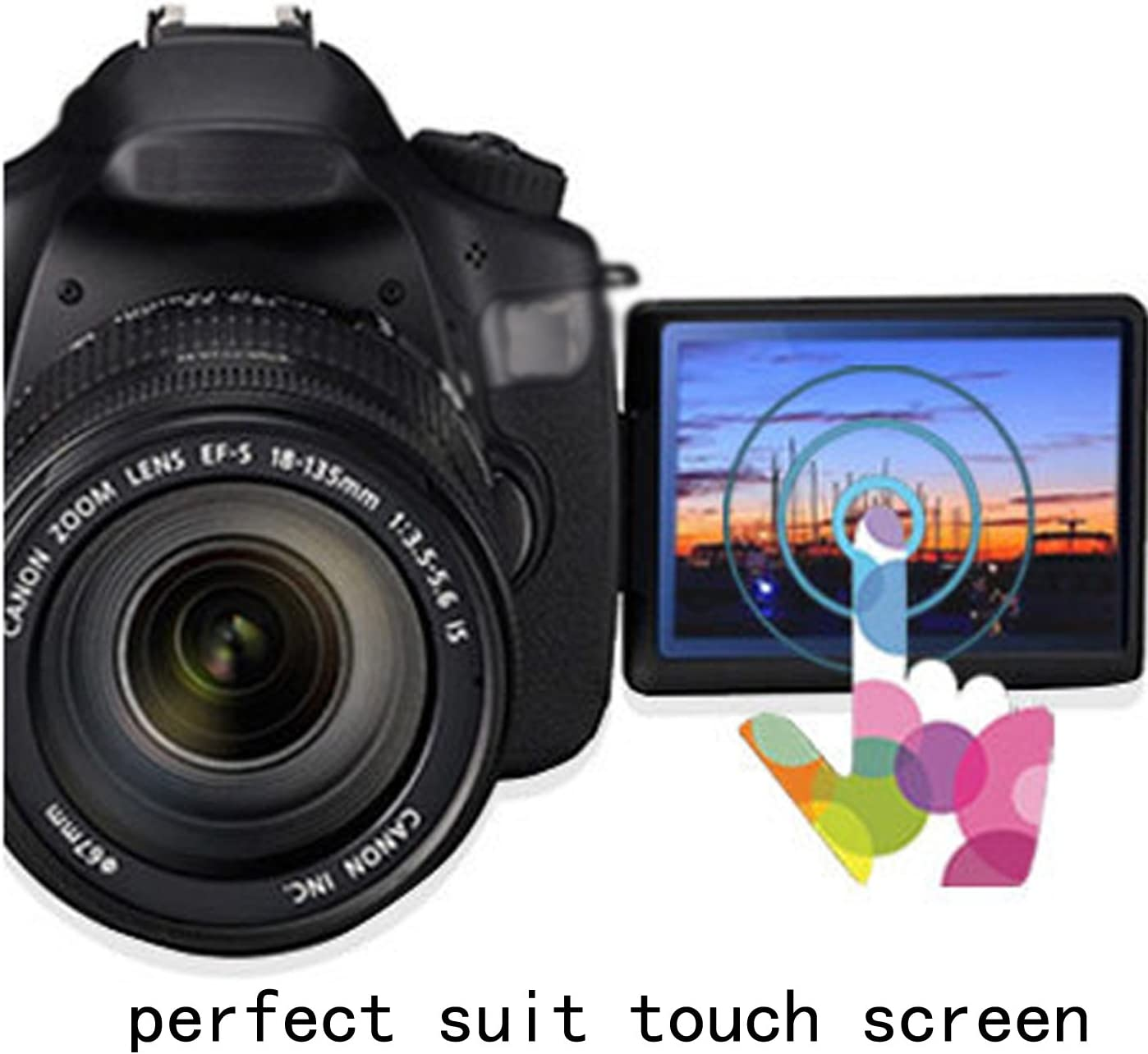 Pack of 2 Matte Reflection-Reducing Anti-Reflection disGuard Tempered Glass Film for Canon EOS M200 Screen Protector Film Extremely Scratch-Resistant