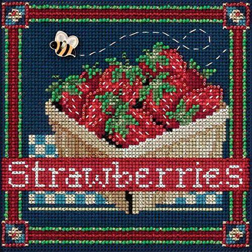 Painted Strawberry - Strawberries (2016) Mill Hill Kit (MH14-1613)