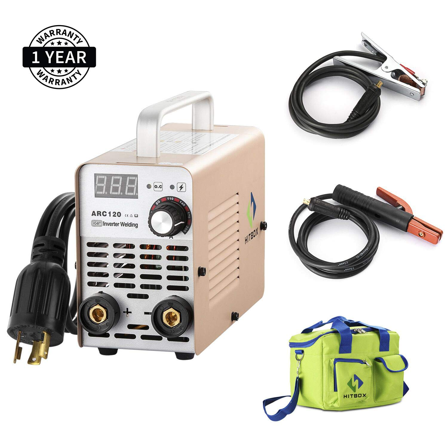 ARC WELDER ARC120 DC Stick 220V MMA Inverter Welding Machine Mini Portable  Style 2.5mm Rod Stick Welder with Accessaries Earth Clamp Electrode and  Toolbag ...