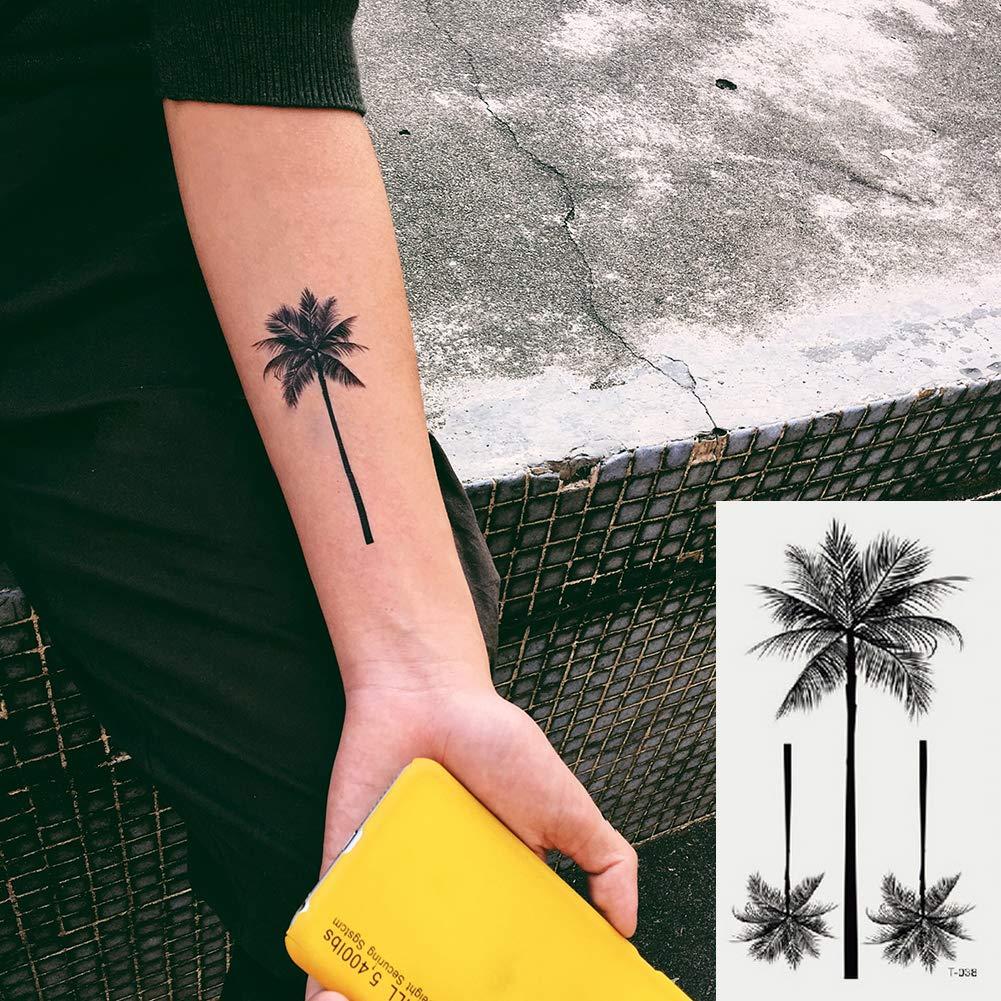 Oottati 2 Hojas Pequeño Lindo Tatuaje Temporal Tattoo Árbol De ...