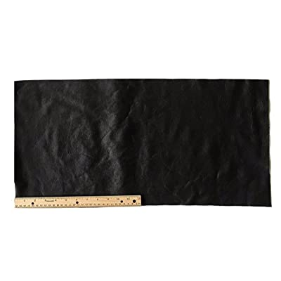 All Size Pre-cut DIY Genuine Leather Samples Black Leather Sheet Scrap Pack