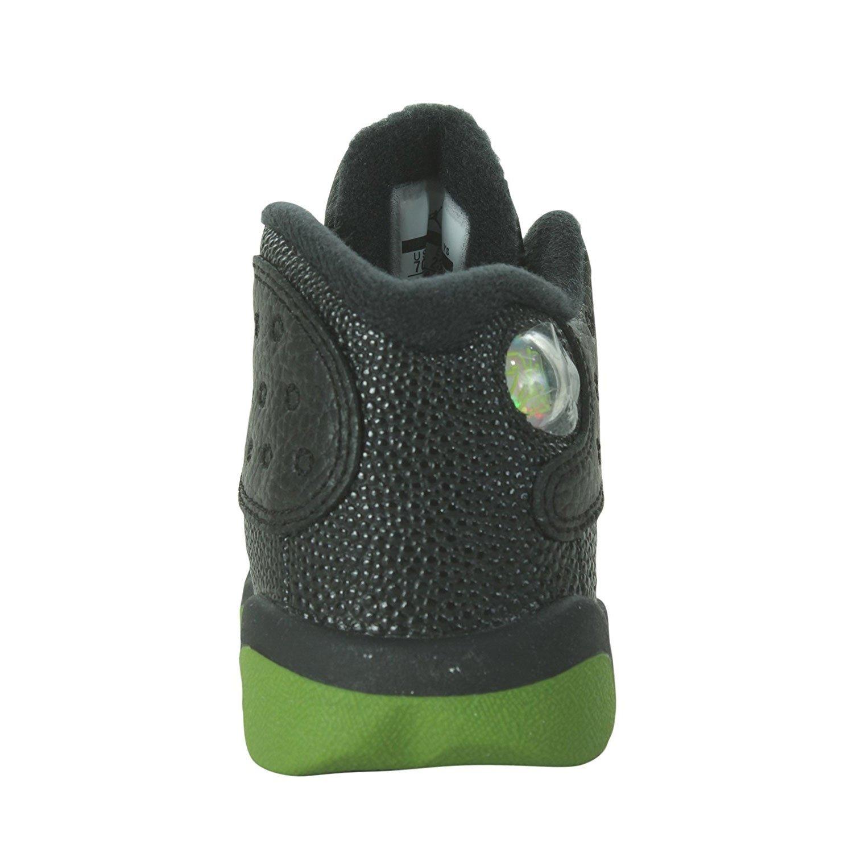 9776c93c0bb Amazon.com | NIKE Jordan 13 Retro BT Kids Black/Green 414581-042 (Size: 4C)  | Sneakers