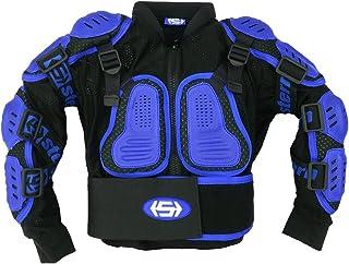 Kids Stern Motocross MX Body Armour Suit quad bike Jacket Blue