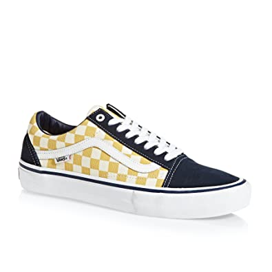 1ef98f90bd0a26 Vans Skate Shoe Men Checkerboard Old Skool Pro Skate Shoes Dress Blues Ochre