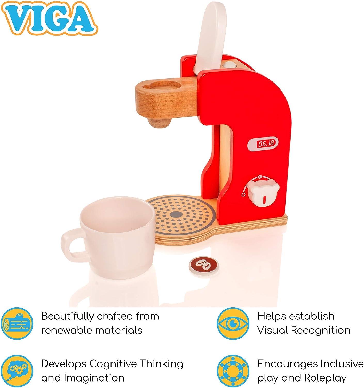 VIGA - 50234 - Cafetera de Juguete - Madera: Amazon.es: Juguetes y ...