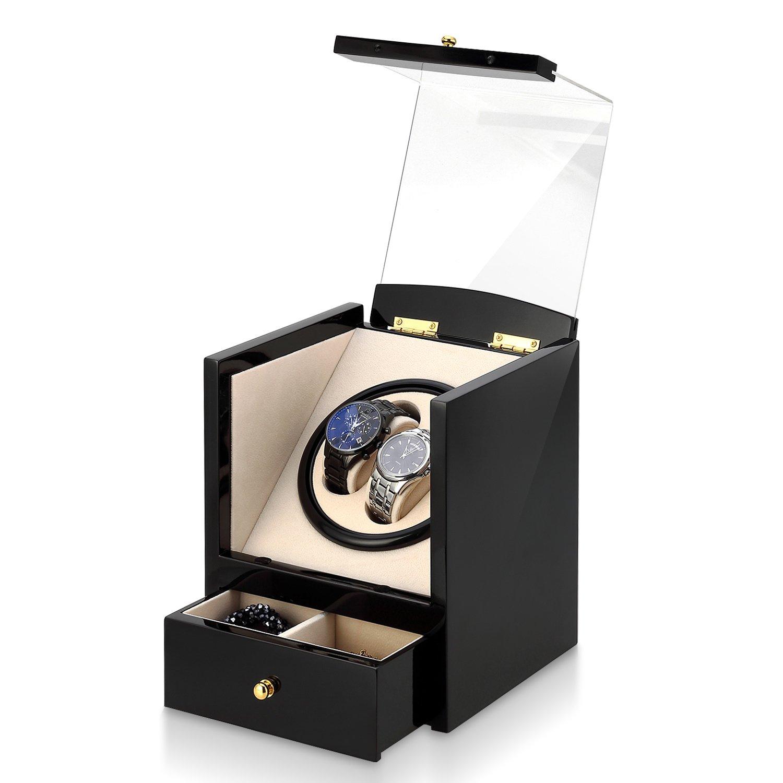 Automatic Watch Winder Box Luxury Wooden Storage Case